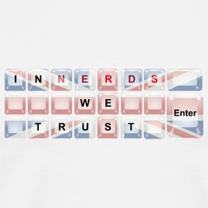 In Nerds We Trust - Enter Union Jack Mugs & Drinkware - Men's Premium T-Shirt