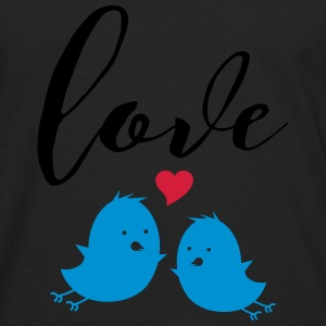 Love (Cute Birds) Tee shirts - T-shirt manches longues Premium Homme