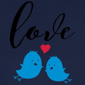 Love (Cute Birds) T-shirts - Basebollkeps