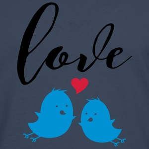 Love (Cute Birds) T-shirts - Långärmad premium-T-shirt herr
