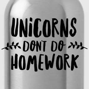 Unicorns Don\'t Do Homework T-Shirts - Water Bottle