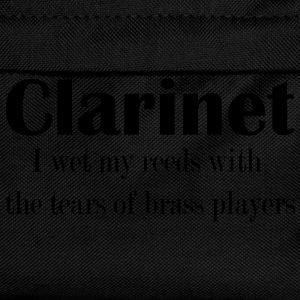 Clarinet, I wet my reeds with the tears  T-Shirts - Kinder Rucksack