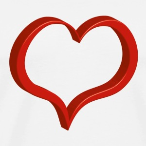 red heart Mugs & Drinkware - Men's Premium T-Shirt