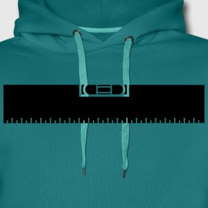 Measure Measure black ruler measure measuring reno T-Shirts - Men's Premium Hoodie