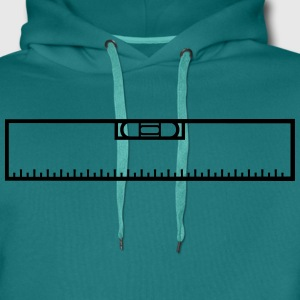 Measure renovate level ruler measure measure measu T-Shirts - Men's Premium Hoodie