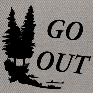 Outdoor - go out T-Shirts - Snapback Cap