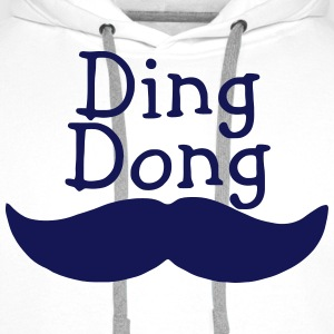 DING DONG MUSTACHE Polo Shirts - Men's Premium Hoodie
