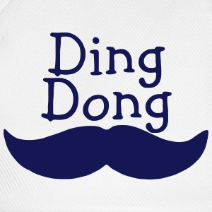 DING DONG MUSTACHE Bags & Backpacks - Baseball Cap