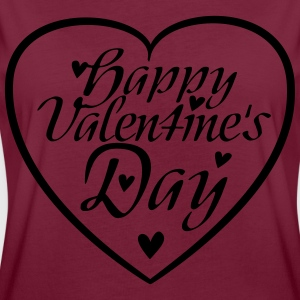 Happy Valentine's Day Heart  Aprons - Women's Oversize T-Shirt