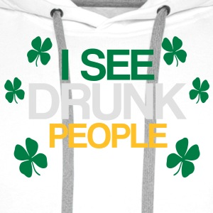 i see drunk people - Men's Premium Hoodie