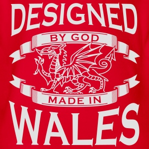 Designed by God - Wales M Shirts - Organic Short-sleeved Baby Bodysuit