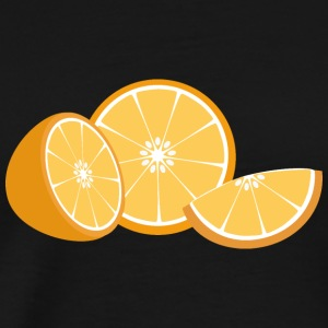 Orange Tröjor - Premium-T-shirt herr