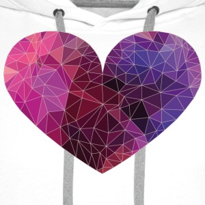 Polygon Heart Strokes T-Shirts - Men's Premium Hoodie