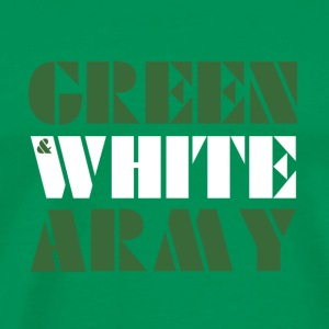 Green And White Army shoulder bag - Men's Premium T-Shirt