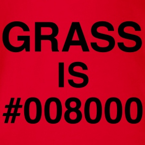 Grass is #008000 T-Shirts - Baby Bio-Kurzarm-Body