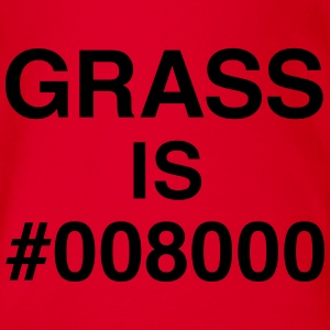 Grass is #008000 Langarmshirts - Baby Bio-Kurzarm-Body