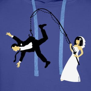 Bride Fishing A Husband (Stag Hen Party / PNG) - Men's Premium Hoodie