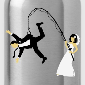 Bride Fishing A Husband (Stag Hen Party / PNG) - Water Bottle