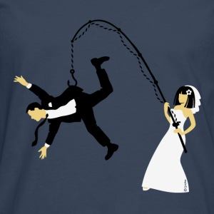 Bride Fishing A Husband (Stag Hen Party / PNG) - Men's Premium Longsleeve Shirt