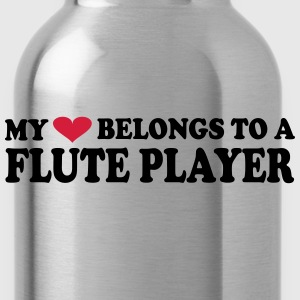 MY HEART BELONGS TO A FLUTE PLAYER Camisetas - Cantimplora