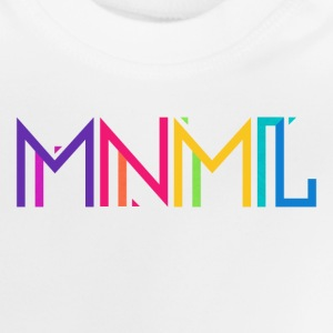 Minimal Type (Colorful) Typograhoy - MNML Design Long Sleeve Shirts - Baby T-Shirt