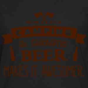 camping is awesome beer makes it awesomer T-shirts - Mannen Premium shirt met lange mouwen