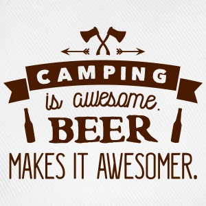 camping is awesome beer makes it awesomer T-Shirts - Baseballkappe