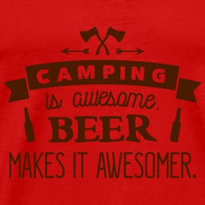 camping is awesome beer makes it awesomer Débardeurs - T-shirt Premium Homme