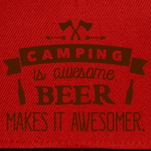 camping is awesome beer makes it awesomer T-shirts - Snapback cap