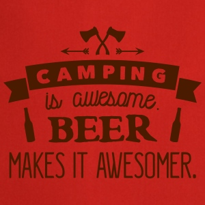 camping is awesome beer makes it awesomer Tank Tops - Cooking Apron