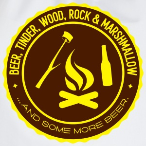 Camping: beer tinder wood rock T-shirts - Gymnastikpåse