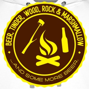 Camping: beer tinder wood rock Tee shirts - Sweat-shirt à capuche Premium pour hommes