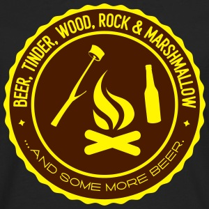 Camping: beer tinder wood rock Tee shirts - T-shirt manches longues Premium Homme