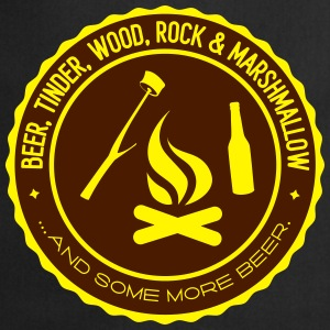Camping: beer tinder wood rock T-Shirts - Cooking Apron
