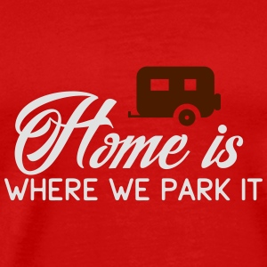 Camper: Home is where we parkt it Tank topy - Koszulka męska Premium