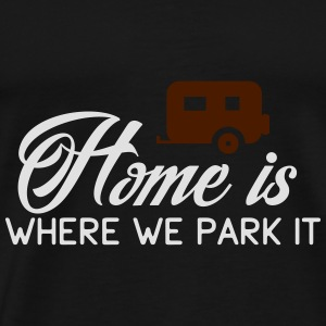 Camper: Home is where we parkt it Débardeurs - T-shirt Premium Homme