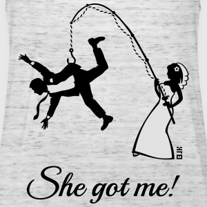 She Got Me! (Groom / Stag Party / Bachelor Party) T-Shirts - Women's Tank Top by Bella
