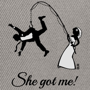 She Got Me! (Groom / Stag Party / Bachelor Party) T-Shirts - Snapback Cap