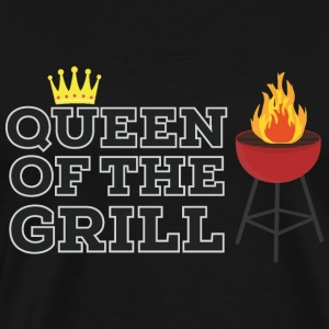 Queen of the grill Tröjor - Premium-T-shirt herr