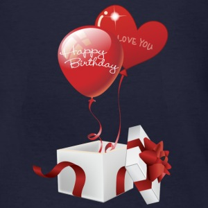Boxed Happy Birthday Hearts - Men's Organic T-shirt