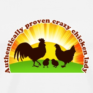 Crazy chicken lady - Men's Premium T-Shirt