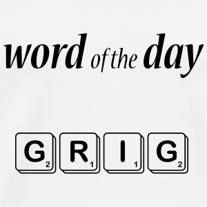 Word of the Day - GRIG - Men's Premium T-Shirt
