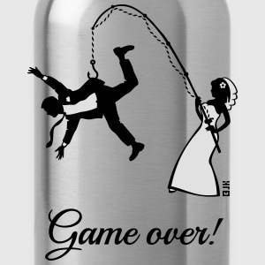 Game Over (Bride Fishing Husband) T-Shirts - Water Bottle