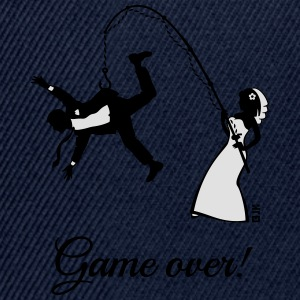 Game Over (Bride Fishing Husband) T-Shirts - Snapback Cap