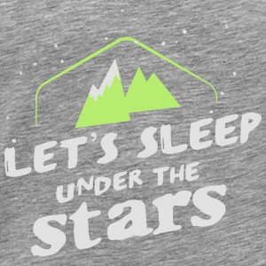 Camping: let's sleep under the stars Toppe - Herre premium T-shirt