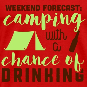 Camping with a chance of drinking Topper - Premium T-skjorte for menn