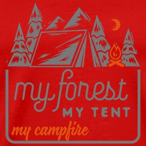 Camping: my forest my tent my campfire Tanktops - Mannen Premium T-shirt