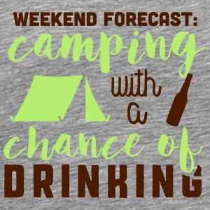 Camping with a chance of drinking Débardeurs - T-shirt Premium Homme