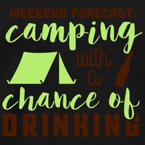 Camping with a chance of drinking Tank Tops - Männer Premium T-Shirt