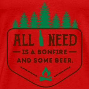 camping: all i need is bonfire and beer Débardeurs - T-shirt Premium Homme